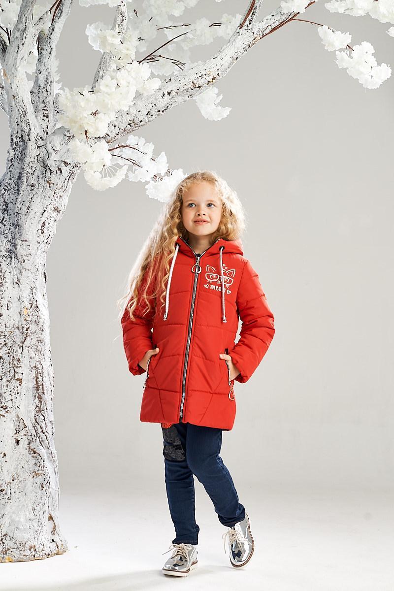 Демисезонная куртка на девочку ANSK 104 красная 7234000D