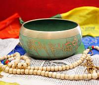 Чаша поющая литая пр-во Непал Салатовая (d- 13-14 см)
