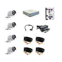 Комплект 4 камеры HD, регистратор, HDD, кабель, блок питания