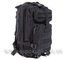 Тактический штурмовой военный рюкзак на 35л. (Черный) 35л. Черный