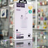 Гарнитура Bluetooth Hoco ES32 Original White (black case) с беспроводной зарядкой [Оригинал]