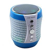 Портативная колонка Bluetooth WSTER WS-1805 со светомузыкой