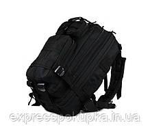 Тактический штурмовой военный рюкзак на 35л. (Черный) 45л. Черный
