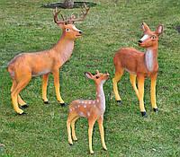 Садовая фигура Олень стоящий, Олениха и Косуля