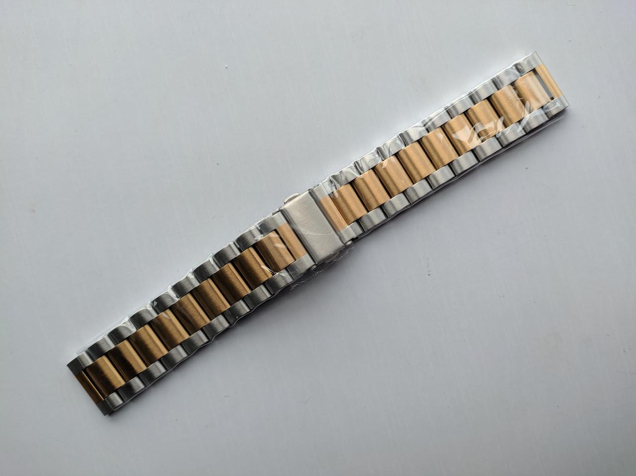 Ремешок 20 мм Buckle Steel Belt Metal Matte для Xiaomi AMAZFIT Bip / GTS / GTR Серебряный / Золотой