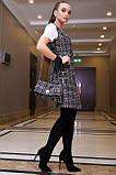 Плаття-сарафан твідове пряме в клітку (чорна в білу клітинку, р. S-XL), фото 4