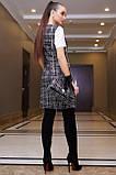 Плаття-сарафан твідове пряме в клітку (чорна в білу клітинку, р. S-XL), фото 5