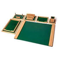 Элитный настольный набор для руководителя 70*50 см Зелёная Долина BST 80005 Зелёный