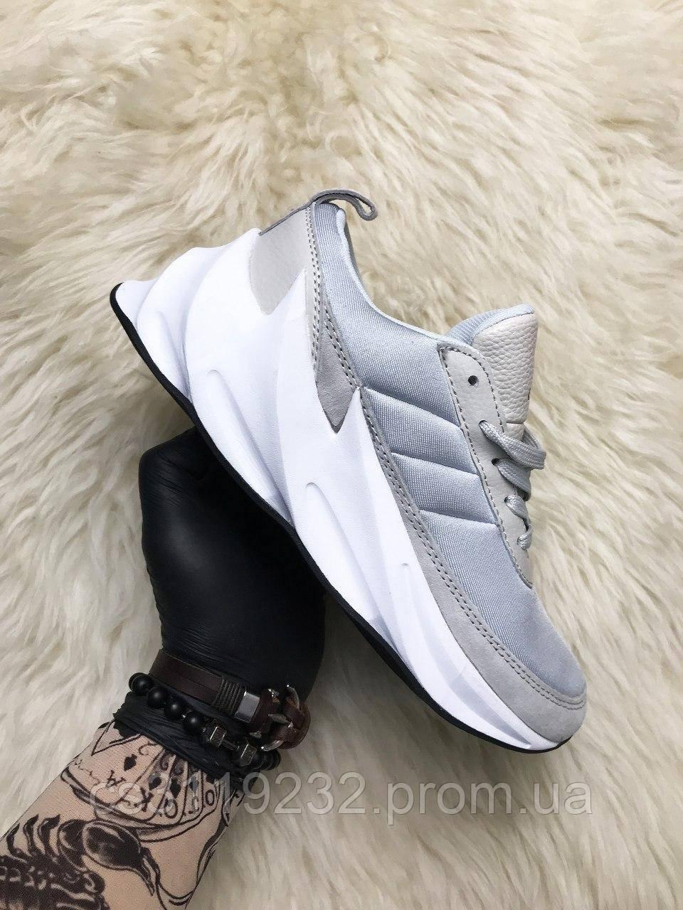 Мужские кроссовки Adidas Sharks (серые)