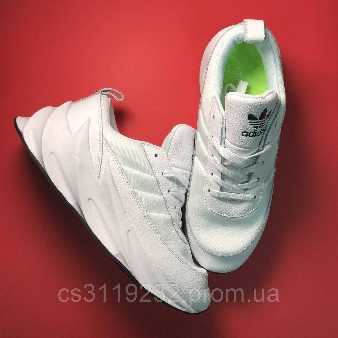 Мужские кроссовки Adidas Sharks White (белые)