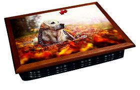 Поднос на подушке BST 040401 44*36 коричневый собака на листьях 040401