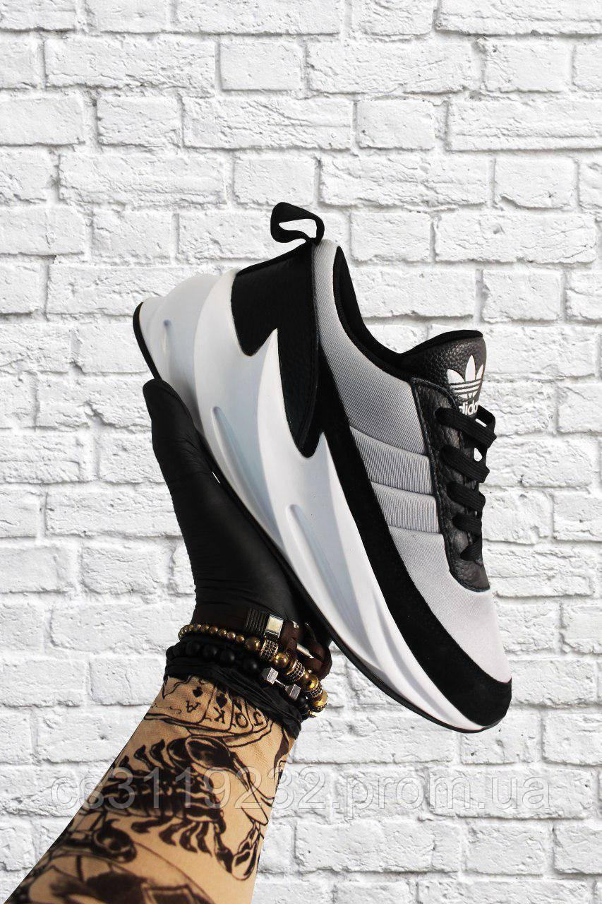 Мужские кроссовки Adidas Sharks Bkack Grey (черно-серые)
