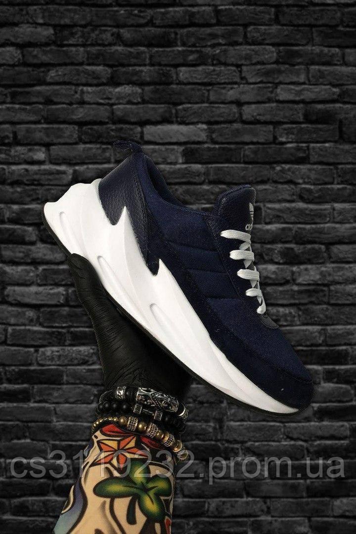 Мужские кроссовки Adidas Sharks Blue White (синие)