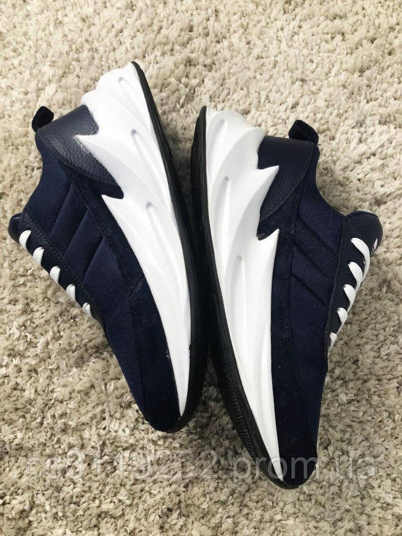 Мужские кроссовки Adidas Sharks Blue White (сине-белые)