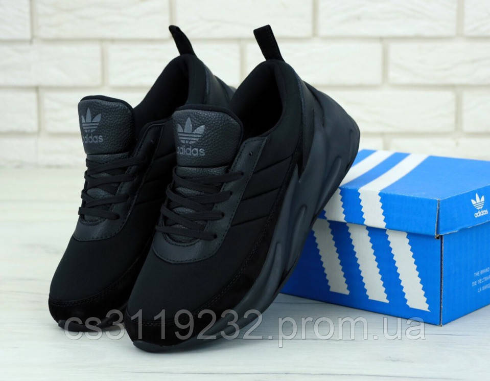 Мужские кроссовки Adidas Sharks Blue White (черные)
