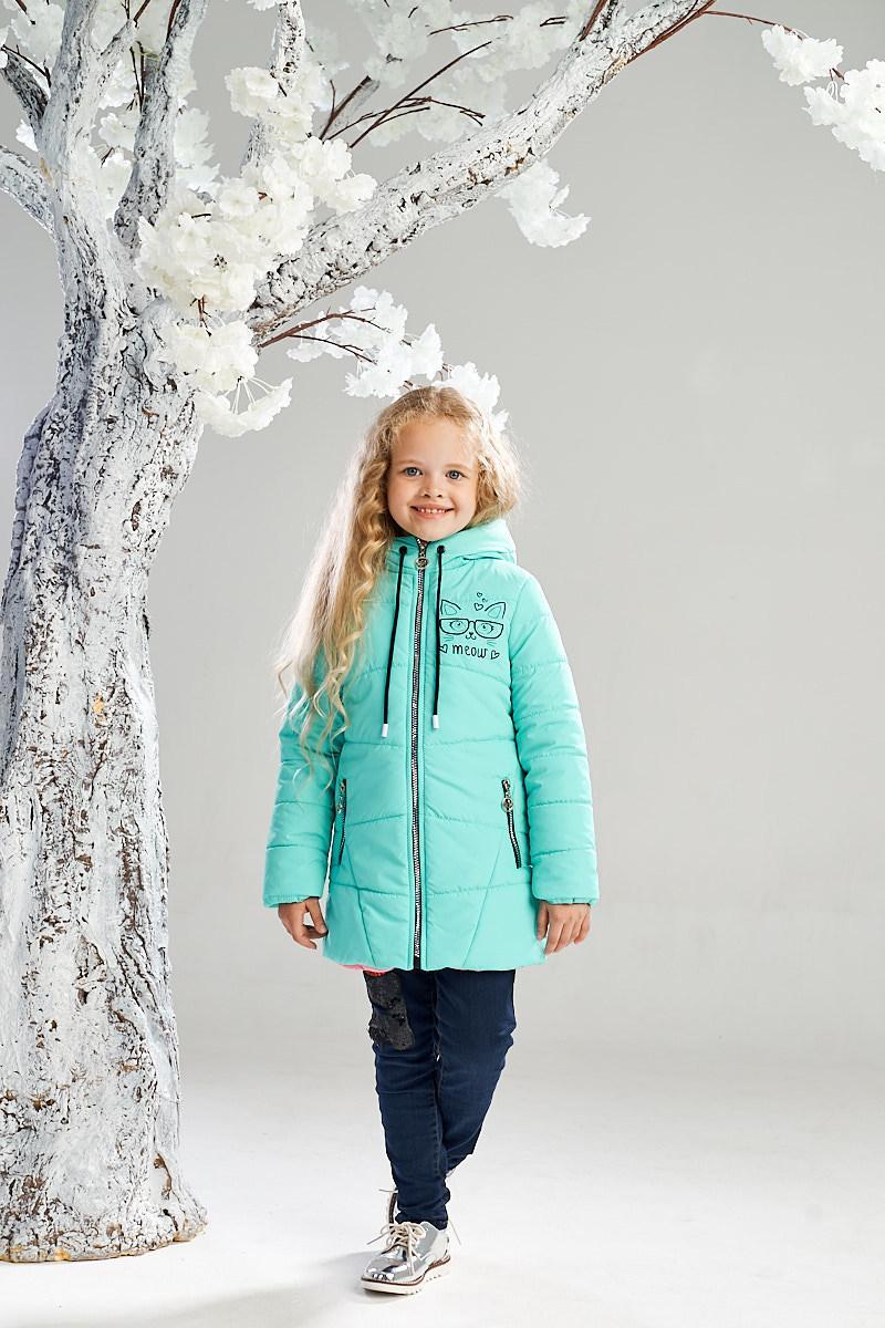 Демисезонная куртка на девочку ANSK 104 мятная 7235000D