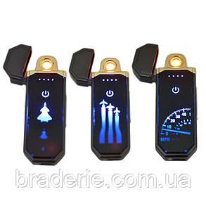 Зажигалка USB спираль накаливания сенсорная Honest HL98 с LED изображением, фото 2