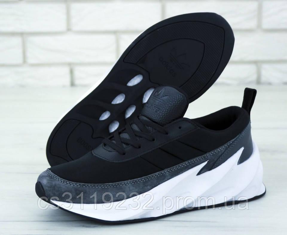 Мужские кроссовки Adidas Sharks Black Grey White (черный/серый/белый)