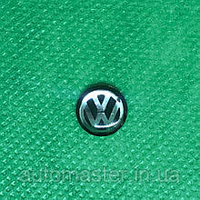 Логотип для авто ключа VW фольцваген черный 10мм