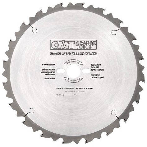 CMT 300x30x3,2x60 пильный диск универсальный, продольный и поперечный рез, фото 2