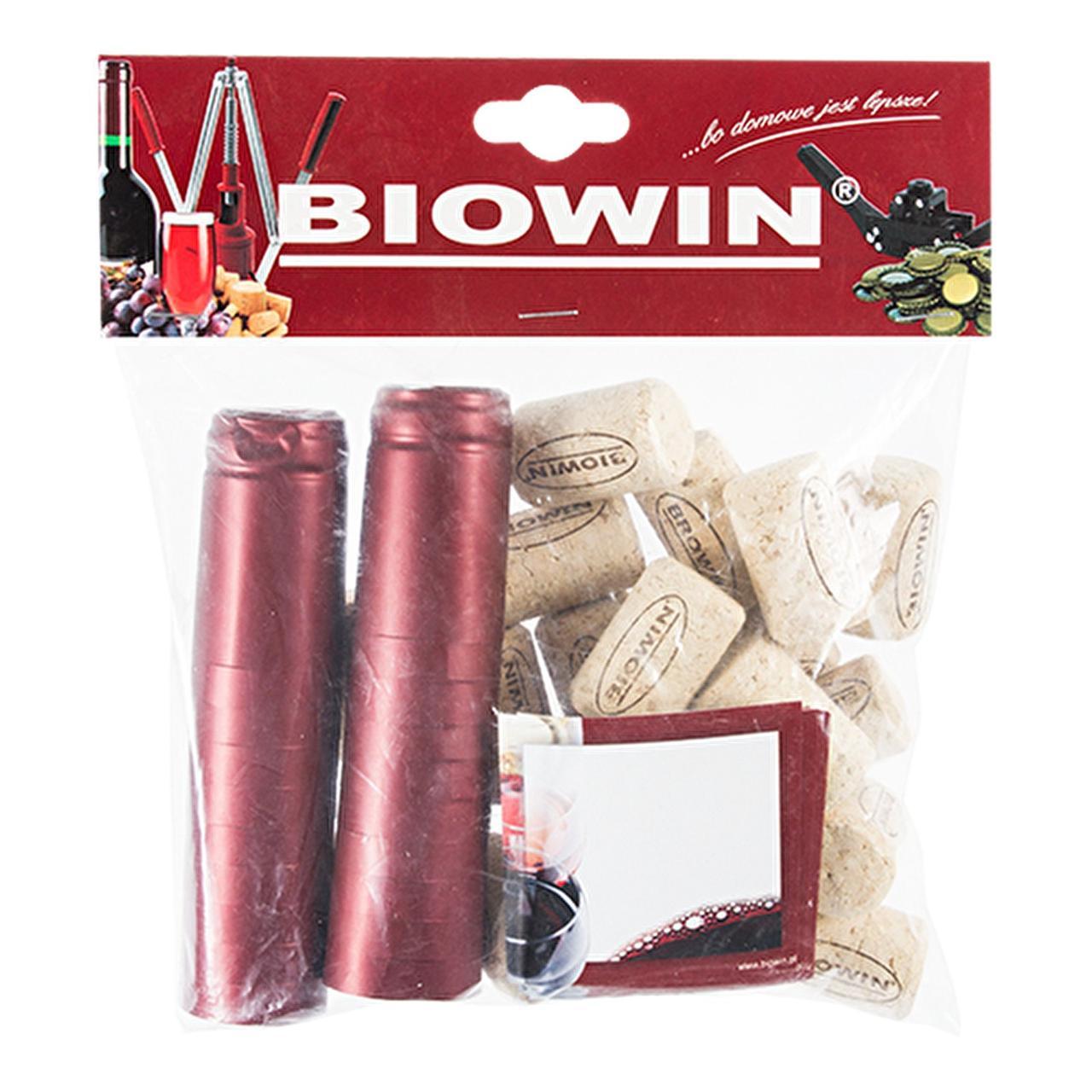 Набір: корки + етикетки + термоусадні ковпаки, 20 комплектов
