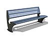 """Парковая скамейка """"Парк"""" 1920х685хН800 мм из прочной полированной стали с перфорацией"""