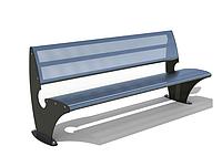 """Парковая скамейка """"Парк"""" 1920х685хН800 мм из прочной полированной стали с перфорацией, фото 1"""