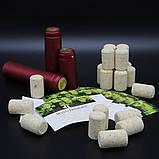 Набір: корки + етикетки + термоусадні ковпаки, 20 комплектов, фото 3