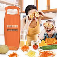 Терка для моркови по корейски Роко Прима Borner Оригинал оранжевая