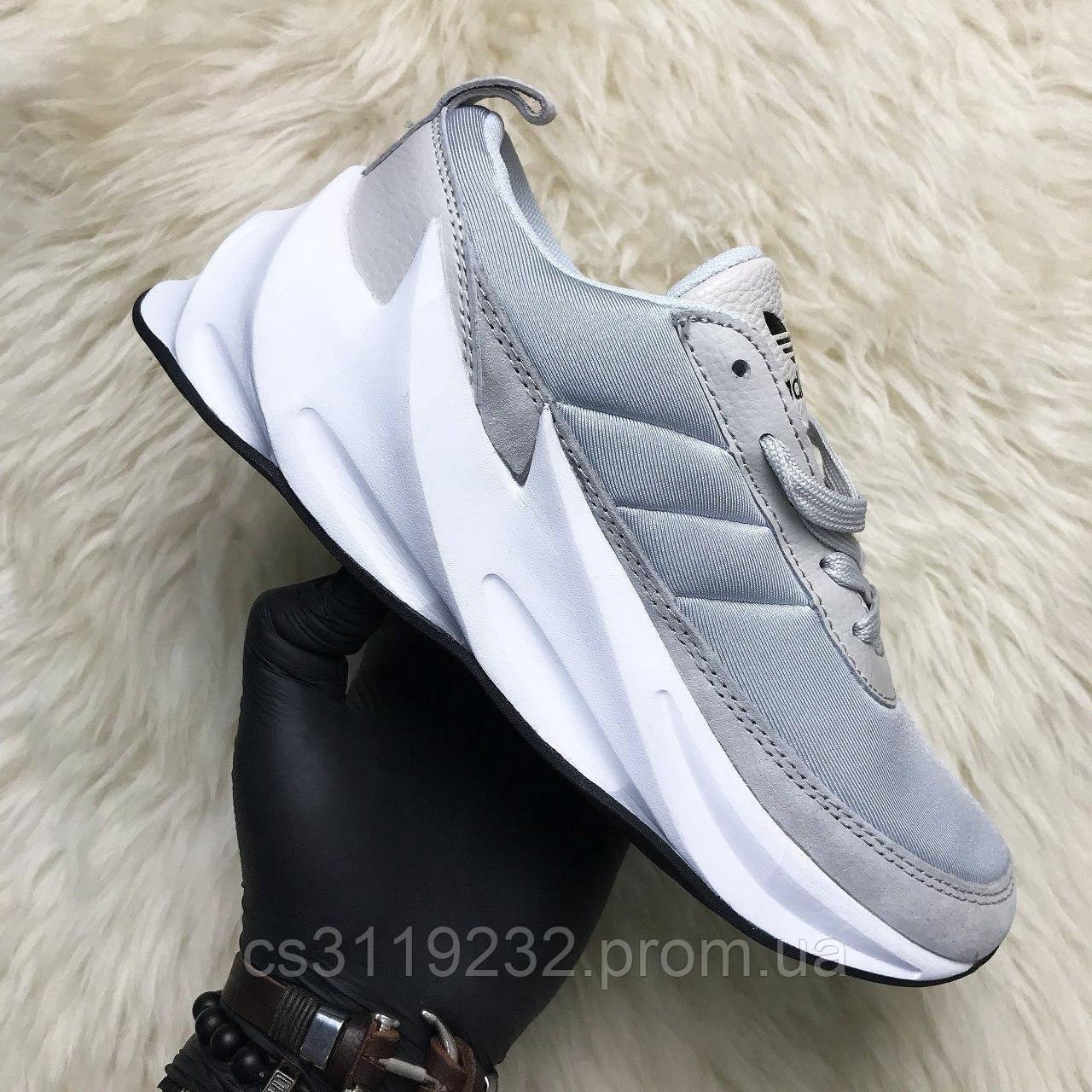 Женские кроссовки Adidas Sharks Grey (серые)