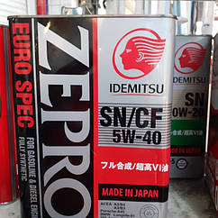 Синтетическое моторное масло 5W 40 idemitsu( ZEPRO)
