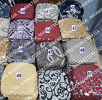 Чехлы на табуретки комплект 4 шт на резинке (сидушка на табурет, стул) №27
