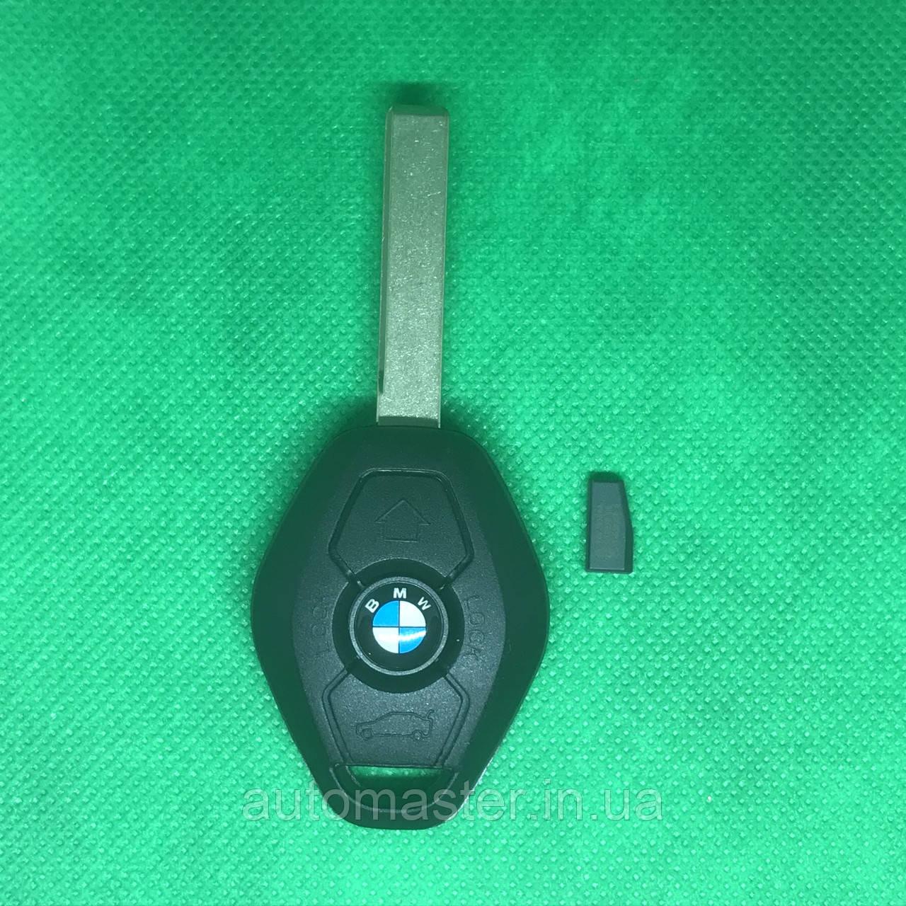 Ключ БМВ Bmw 3, 5, 7, x5 Лезвие HU92 EWS чип PCF7935 ID 44 315Mhz / 433Mhz