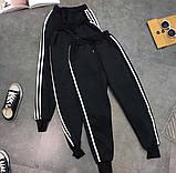 Штаны спортивные женские чёрные, фото 3
