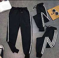 Штаны спортивные женские чёрные, фото 1