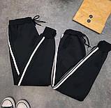 Штаны спортивные женские чёрные, фото 2