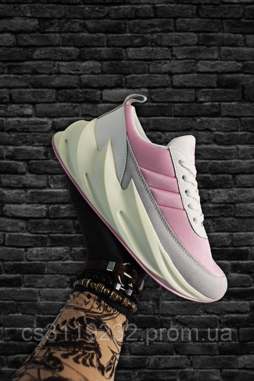 Женские кроссовки Adidas Sharks Pink White (розово-белые)