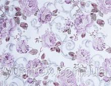 """Тюль вуаль """"Крупные розы"""", фиолет"""