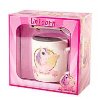 """Подарунковий набір чашка з ложечкою """"Unicorn"""" (200 мл), фото 1"""