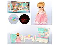 Кухня с мебелью 602A-1, посудой и куклой -  детский игровой набор