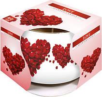 Аромасвеча в стакане Bispol Любовь 7 см оптом (sn71s-05)