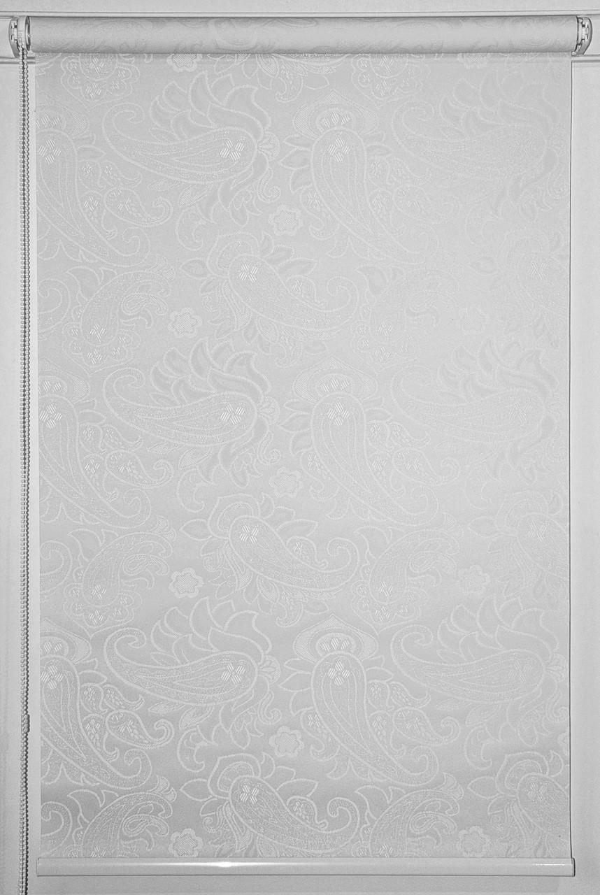 Готовые рулонные шторы 300*1500 Ткань Арабеска 2018 Белый