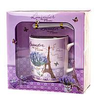 """Подарочный набор чашка с ложечкой """"Lavender"""" (200 мл.), фото 1"""