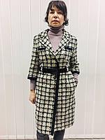 Пальто женское демисезонное в стиле Шанель гусиная лапка, фото 1