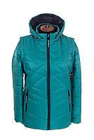 Женская демисезонная куртка большого размера  48-58 Бирюза