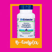 Life Extension, Полный биоактивный комплекс витаминов группыB, 60 растительных капсул