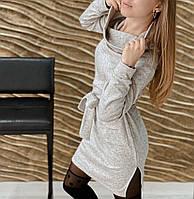 "Стильне трикотажна сукня ангора ""2 кишені"", фото 1"
