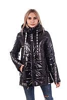 Женская демисезонная куртка молодежная   42-50 черный