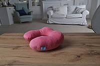 Дорожная подушка под шею розовая подушка в дорогу LSM