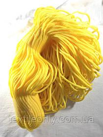 Шнур для одягу поліпропіленовий колір яєчний жовток 100 метрів